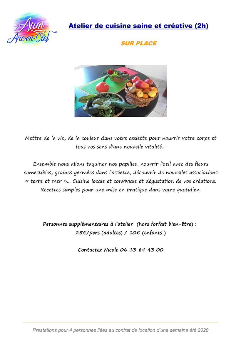 PACK BIEN-ETRE Atelier cuisine