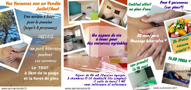 Location Vacances bien-être AUM Arc-en-Ciel