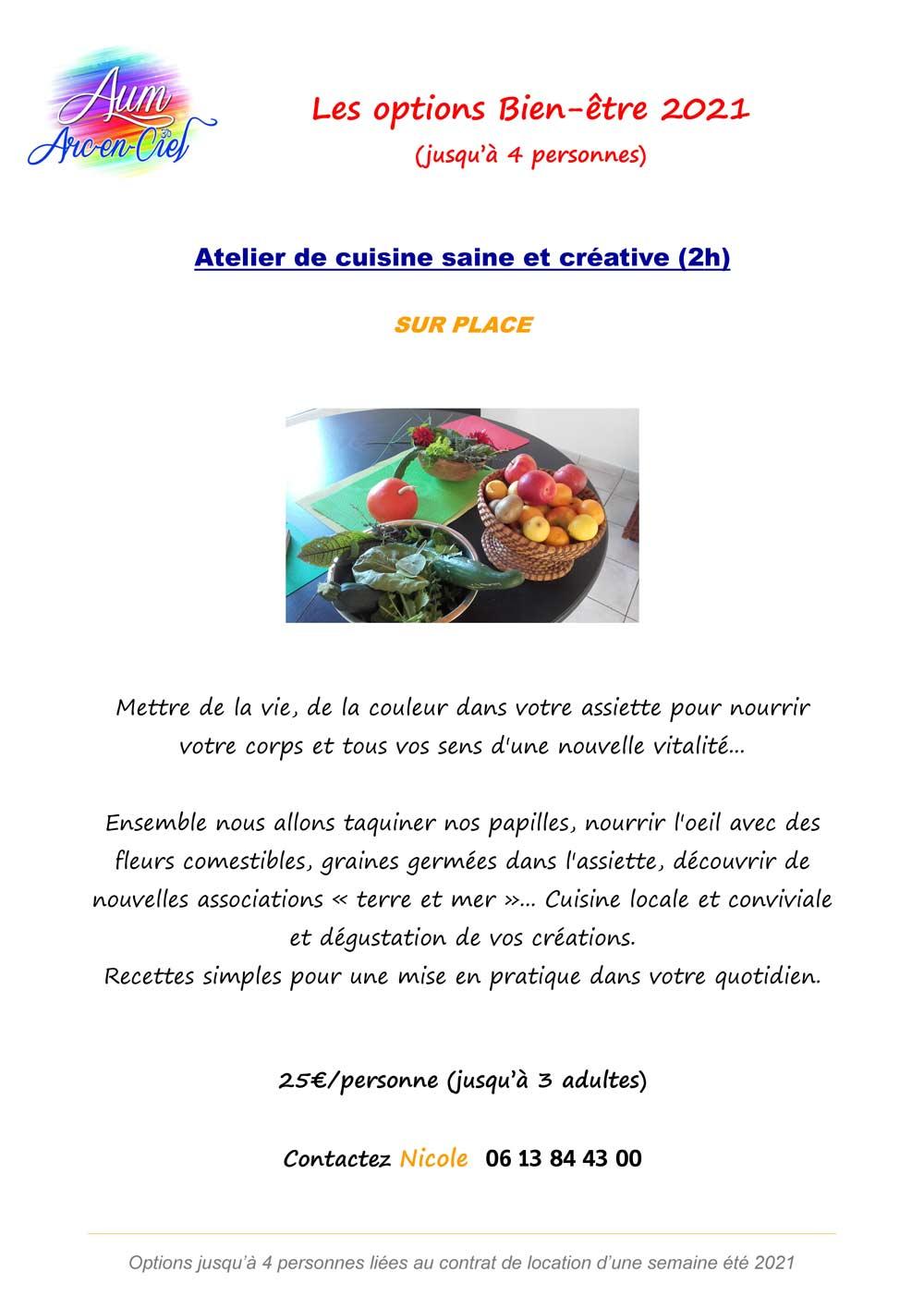 Options BIEN-ETRE 2021 cuisine