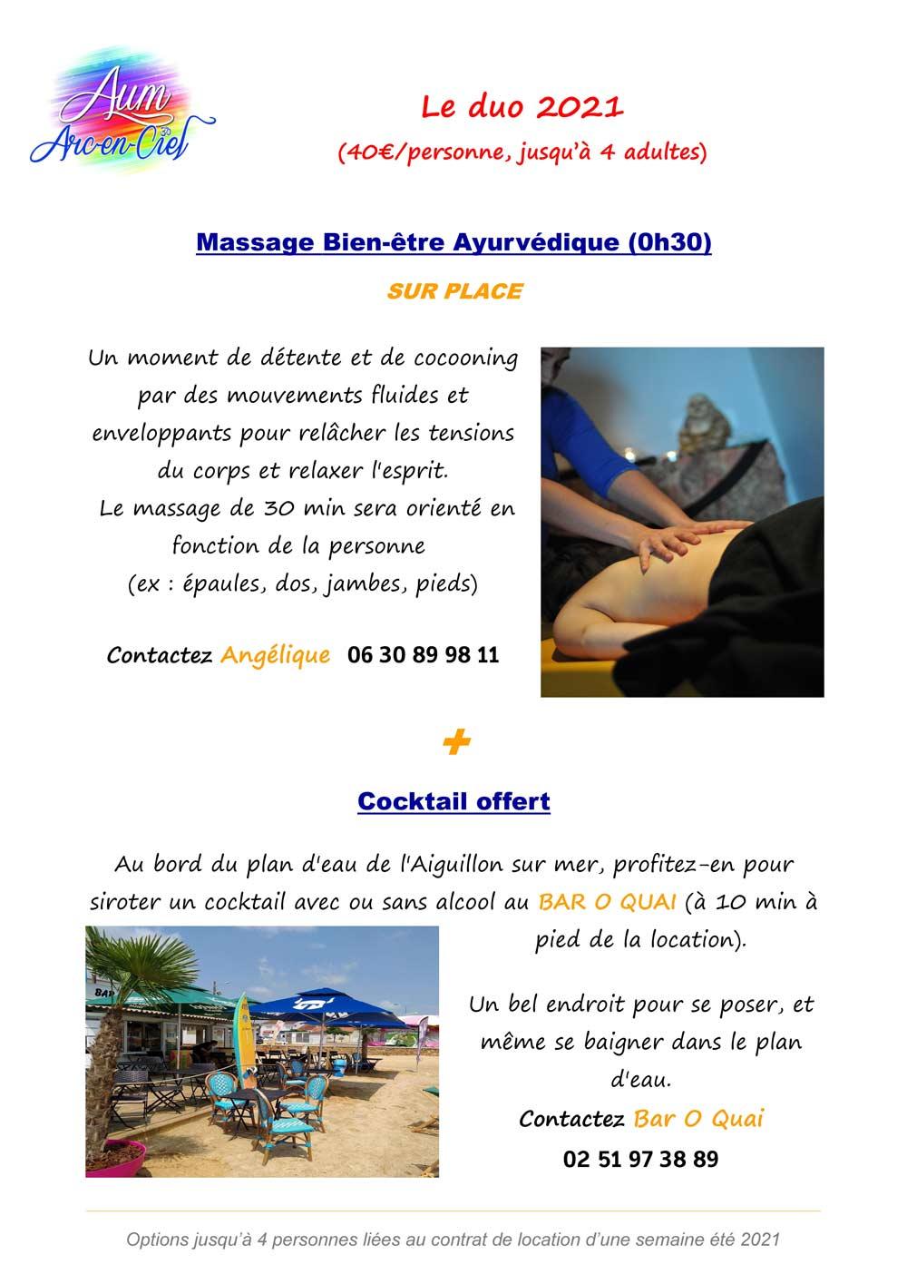 Options BIEN-ETRE 2021 massages